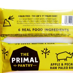 The Primal Pantry Apple & Pecan raw Paleo bar