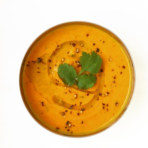 Paleo Spicy, Cumin, Ginger Lime & Roasted Queen Squash Soup