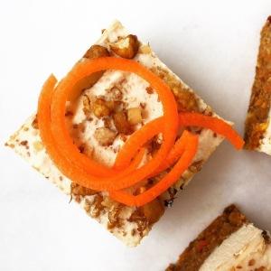 Raw Paleo Carrot Cake Squares